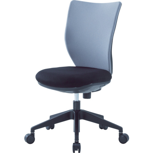 ■アイリスチトセ 回転椅子3DA グレー 肘なし 3DA-45M0-GR アイリスチトセ[TR-4743881] [個人宅配送不可]