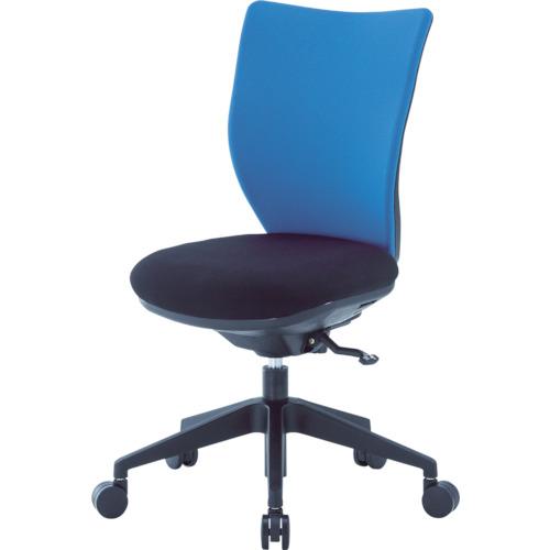 ■アイリスチトセ 回転椅子3DA ブルー 肘なし シンクロロッキング 3DA-S45M0-BL [TR-4743920] [個人宅配送不可]