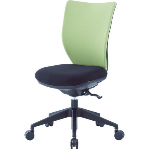 ■アイリスチトセ 回転椅子3DA ライムグリーン 肘なし シンクロロッキング 3DA-S45M0-LGN [TR-4743946] [個人宅配送不可]