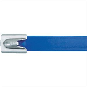 ■パンドウイット MLT フルコーティングステンレススチールバンド SUS316 青 幅8.1mm 長さ201mm 50本入り MLTFC2H-LP316BU [TR-4774761]