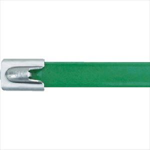 ■パンドウイット MLT フルコーティングステンレススチールバンド SUS316 緑 幅8.1mm 長さ201mm 50本入り MLTFC2H-LP316GR [TR-4774779]