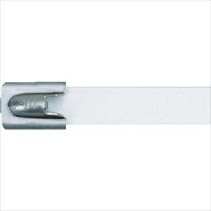 ■パンドウイット MLT フルコーティングステンレススチールバンド SUS316 白 幅8.1mm 長さ201mm 50本入り MLTFC2H-LP316WH [TR-4774795]