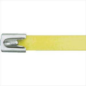 ■パンドウイット MLT フルコーティングステンレススチールバンド SUS316 黄 幅8.1mm 長さ201mm 50本入り MLTFC2H-LP316YL [TR-4774809]