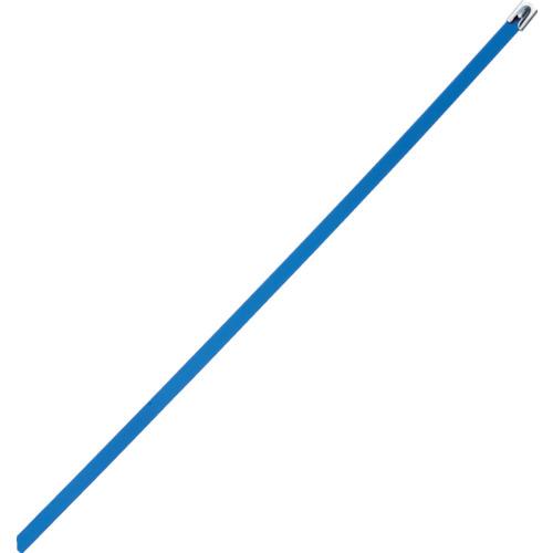 ■パンドウイット MLTタイプ フルコーティングステンレススチールバンド SUS316 青 幅8.1mm 長さ363mm 50本入り MLTFC4H-LP316BU [TR-4774833]