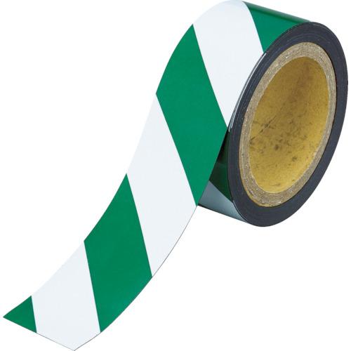 ■TRUSCO マグネット反射シート 緑・白 100mmX10m TMGH-1010GW トラスコ中山(株)[TR-4779525]