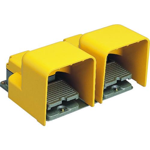 ■オジデン フットスイッチ産業用防雨形・シールドカバー付 定格6A-250VAC   〔品番:OFL-TW-SM2K〕[TR-4786629]