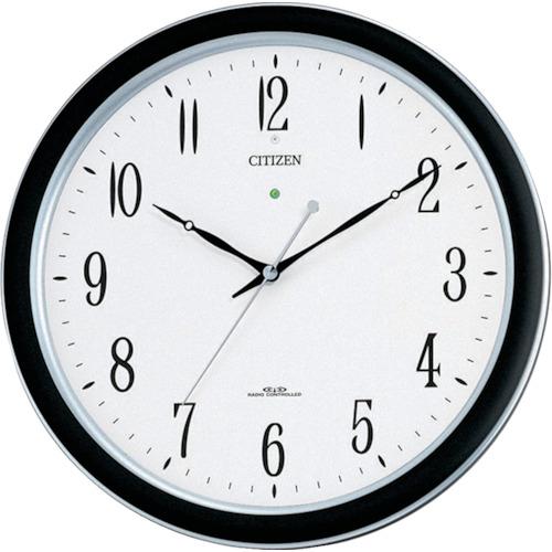 ■シチズン ネムリーナM691F(電波掛時計)プラスチック枠シルバーメタリック  〔品番:4MY691-N19〕[TR-4853253]