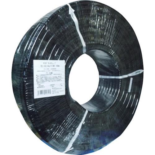 ■チヨダ TEタッチチューブ 16mm/100m 黒 TE-16-100 千代田通商(株)[TR-4855752]