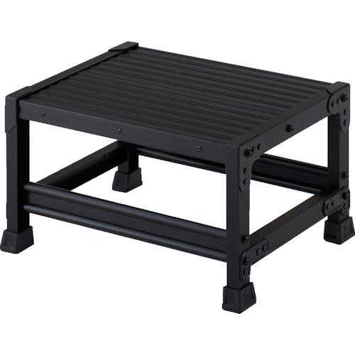 ■TRUSCO 作業用踏台 アルミ製・高強度タイプ 1段 ブラック TSF-153-BK トラスコ中山(株)[TR-4879589]
