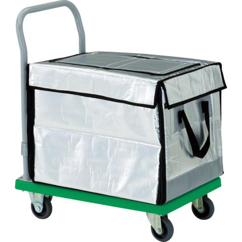 ■TRUSCO 樹脂台車 グランカート 保冷ハンドトラックボックス付 718X468  〔品番:TP-702-THBC〕[TR-4892976]【大型・重量物・個人宅配送不可】