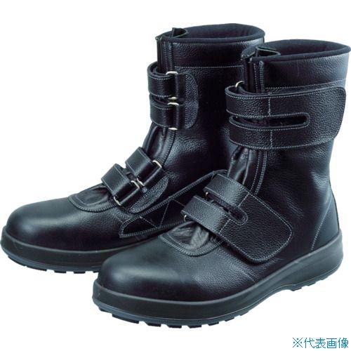 ■シモン 安全靴 長編上靴 マジック WS38黒 24.5cm WS38-24.5 (株)シモン[TR-4914937]