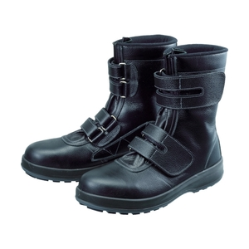 ■シモン 安全靴 長編上靴 マジック WS38黒 25.0cm WS38-25.0 (株)シモン[TR-4914945]