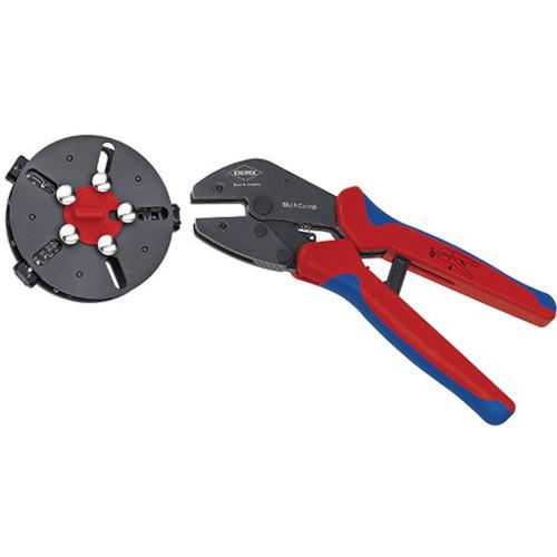 ■KNIPEX 9733-02 マルチクリンプ マガジン付圧着工具  〔品番:9733-02〕[TR-4963938]