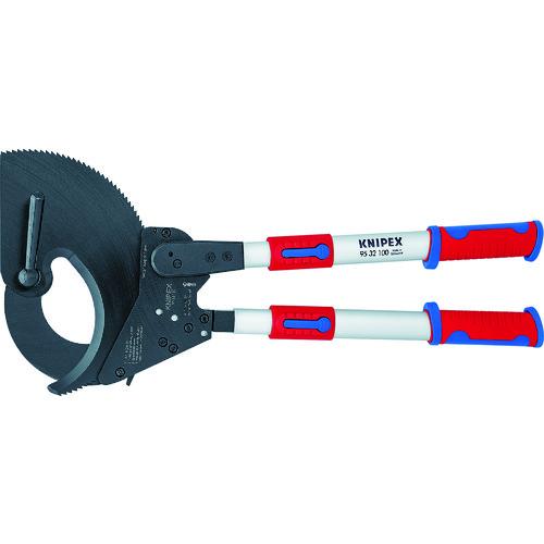 ■KNIPEX 9532-100 ラチェット式ケーブルカッター 650mm KNIPEX社[TR-4970942]
