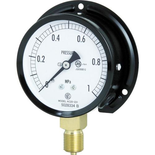 ■長野 普通形圧力計(B枠立形・φ75・G3/8B・0.0~6.00Mpa) AC20-231-6.0MP 長野計器[TR-4984633]