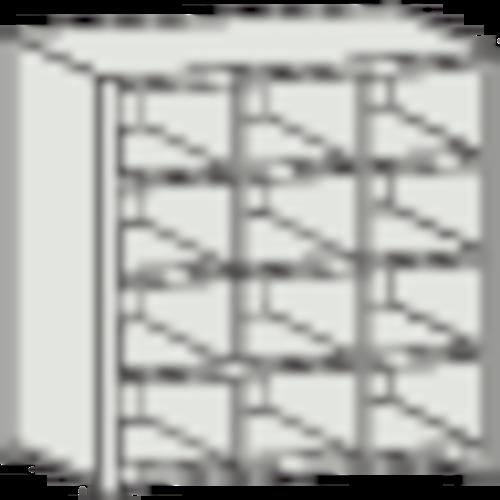■TRUSCO KB型区分棚コボレ止め付 889X264XH927 3列4段 KB-3043 トラスコ中山(株)[TR-5040949] [個人宅配送不可]