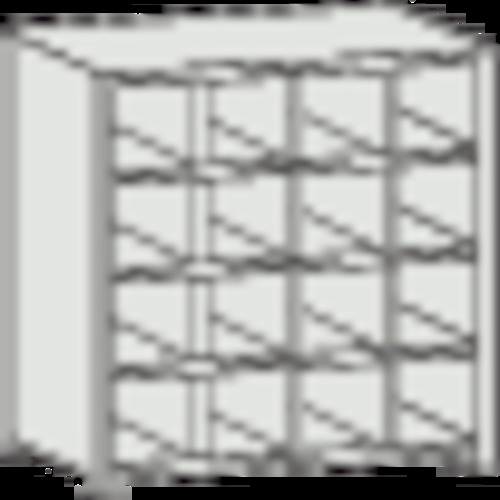 ■TRUSCO KB型区分棚コボレ止め付 889X264XH927 4列4段 KB-4043 トラスコ中山(株)[TR-5041112] [個人宅配送不可]