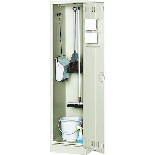 ■TRUSCO 掃除用具ケース 片開型 W455XD515XH1790 NSP トラスコ中山[TR-5051231] [個人宅配送不可]
