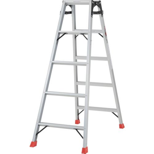 ■TRUSCO はしご兼用脚立 アルミ合金製・脚カバー付 高さ1.40M  〔品番:THK-150〕[TR-5123682]【大型・重量物・個人宅配送不可】