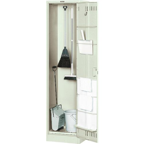 ■TRUSCO 掃除用具ケース 浅型 パイプ付W455XD400XH1790 NKHC トラスコ中山(株)[TR-5190037] [個人宅配送不可]