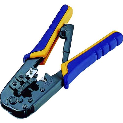 LD-KKTR エレコム(株)[TR-5400279] ■エレコム ラチェットタイプRJ45/RJ11コネクタかしめ工具