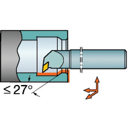 ■サンドビック T-MAX P ネガチップ用ボーリングバイト  〔品番:A25T-PDUNR〕[TR-5663172]