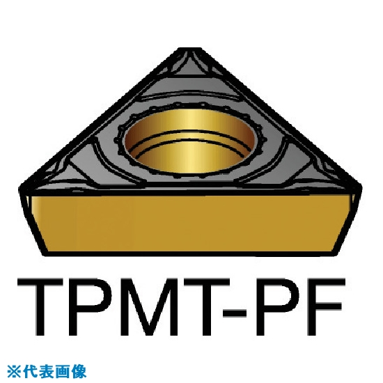 ■サンドビック コロターン111 旋削用ポジ・チップ 1515 1515 10個入 〔品番:TPMT〕[TR-5798493×10]