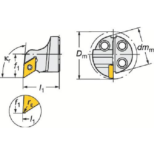 ■サンドビック コロターンSL コロターン111用カッティングヘッド  〔品番:570-SDUPR-20-07〕[TR-6013139]