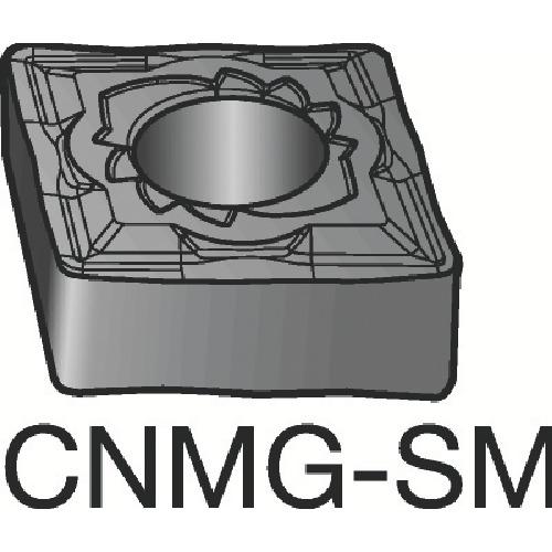 ■サンドビック T-MAX P 旋削用ネガ・チップ 10個入 〔品番:CNMG120408-SMR〕[TR-6049141×10]