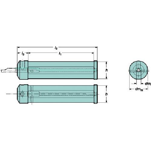 ■サンドビック コロターンXS 小型旋盤用アダプタ  〔品番:CXS-A1000-04M〕[TR-6069011]
