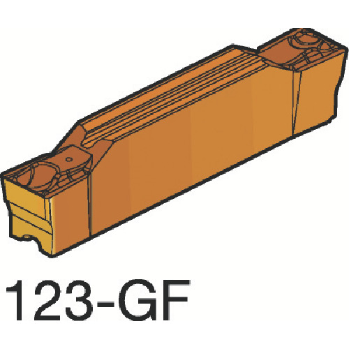 ■サンドビック コロカット2 突切り・溝入れチップ H13A H13A 10個入 〔品番:N123G2-0300-0002-GF〕[TR-6074651×10]