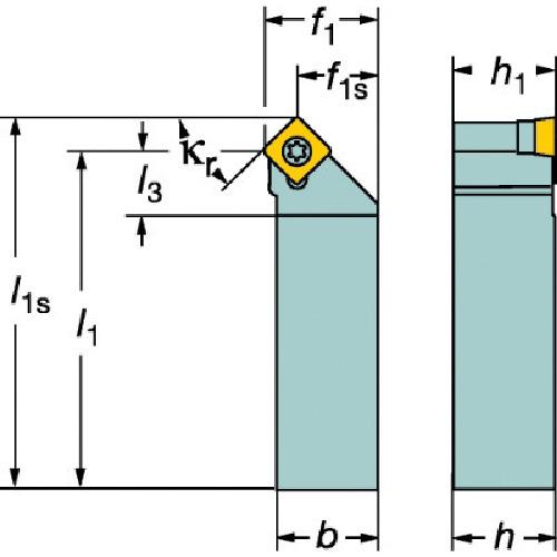 ■サンドビック コロターン107 ポジチップ用シャンクバイト  〔品番:SSDCR〕[TR-6076271]