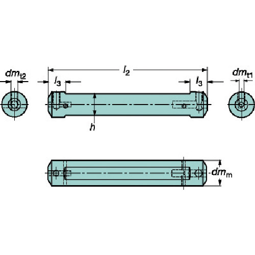 ■サンドビック コロターンXS 小型旋盤アダプタ 0 〔品番:CXS-A12-06〕[TR-6096336]【個人宅配送不可】