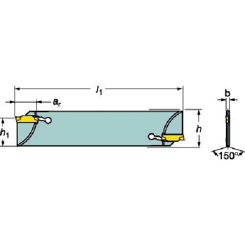 ■サンドビック コロカット1・2 突切りブレード(ダブルエンドタイプ)  〔品番:N123F55-25A2〕[TR-6098321]