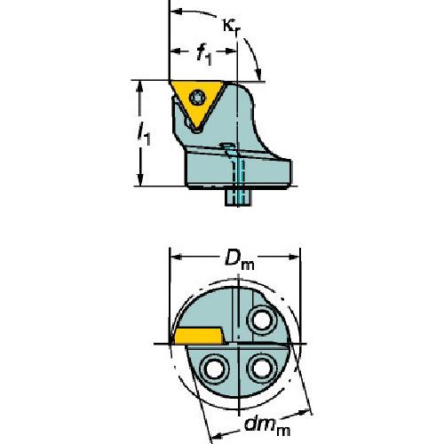 ■サンドビック コロターンSL コロターン107用カッティングヘッド  〔品番:570-STFCR-16-11-B1〕[TR-6109314]