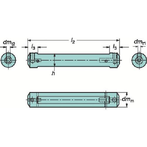 ■サンドビック コロターンXS 小型旋盤用アダプタ  〔品番:CXS-A25-05〕[TR-6190740]