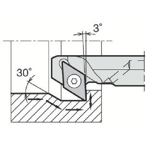 ■京セラ 内径加工用ホルダ A20R-SDZCR11-27AE 京セラ(株)[TR-6465188]
