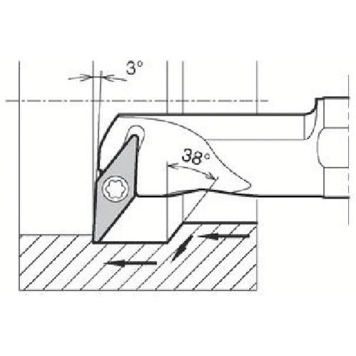 ■京セラ 内径加工用ホルダ S16Q-SVUBR11-20A 京セラ(株)[TR-6488536]