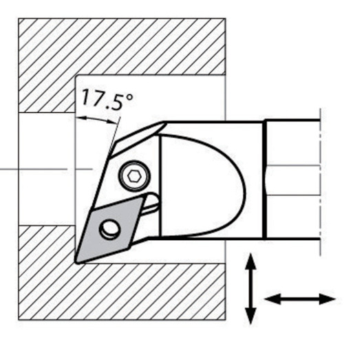 ■京セラ 内径加工用ホルダ S32S-PDQNR15-44 京セラ(株)[TR-6535267]