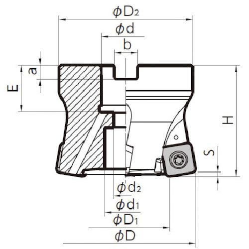 ■京セラ ミーリング用ホルダ MFH063R-14-5T-22M 京セラ(株)[TR-6546684]