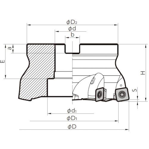 ■京セラ MFHフェースミル MFH160R-14-8T 京セラ(株)[TR-6546749]