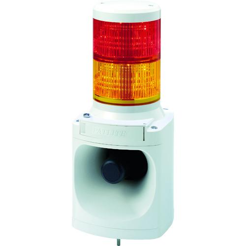 ■パトライト LED信号灯付き電子音報知器 LKEH-202FA-RY (株)パトライト[TR-7514654]