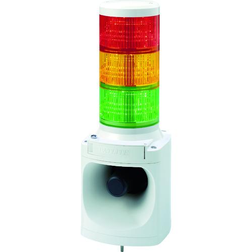 ■パトライト LED積層信号灯付き電子音報知器 色:赤・黄・緑 LKEH-302FA-RYG (株)パトライト[TR-7514689]