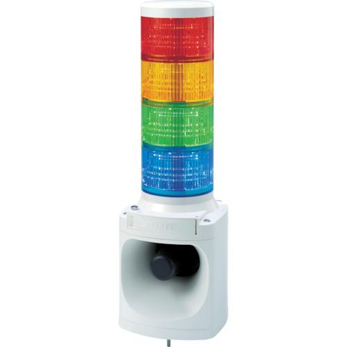■パトライト LED積層信号灯付き電子音報知器 色:赤・黄・緑・青  〔品番:LKEH-420FA-RYGB〕[TR-7514735]