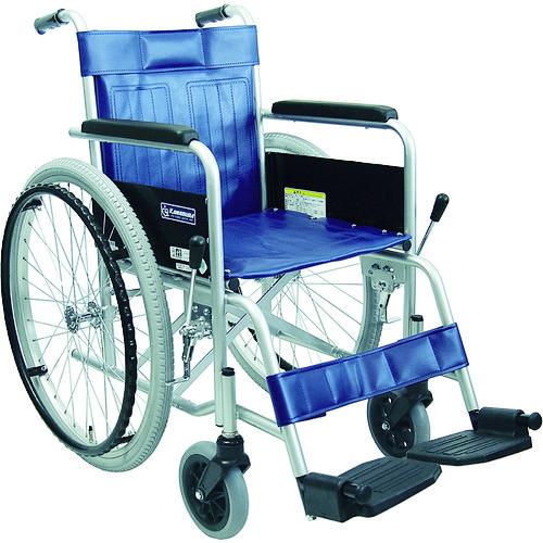 ■カワムラ スチール製車椅子 座幅42CM KR801N [TR-7546262] [個人宅配送不可]