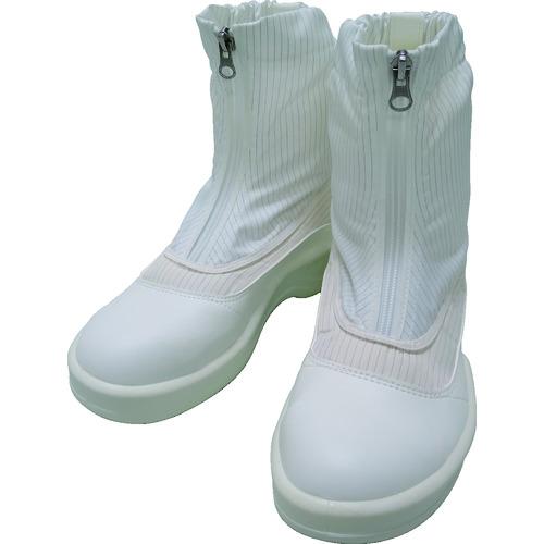■ゴールドウイン 静電安全靴セミロングブーツ ホワイト 23.0cm PA9875-W-23.0 [TR-7591586]