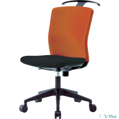 ■アイリスチトセ ハンガー付回転椅子(フリーロッキング) オレンジ/ブラック HG-X-CKR-46M0-F-OG [TR-7594275] [個人宅配送不可]