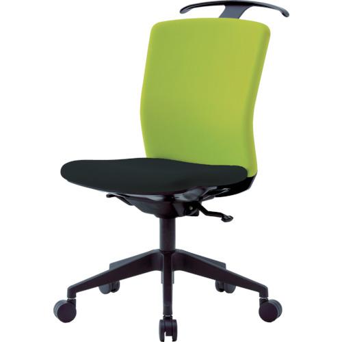 ■アイリスチトセ ハンガー付回転椅子(シンクロロッキング) グリーン/ブラック HG-X-CKR-S46M0-F-LGY [TR-7594305] [個人宅配送不可]