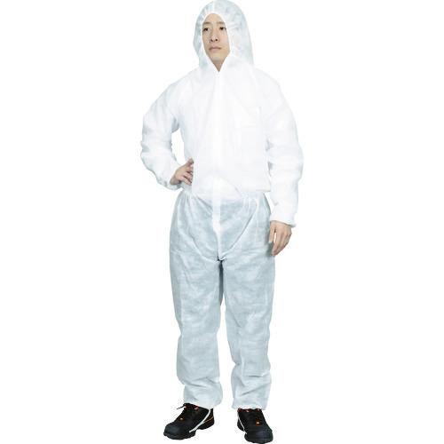 ■TRUSCO まとめ買い 保護服(1層タイプ) Mサイズ (50着入) TPSB-M トラスコ中山(株)[TR-7630361] [個人宅配送不可]