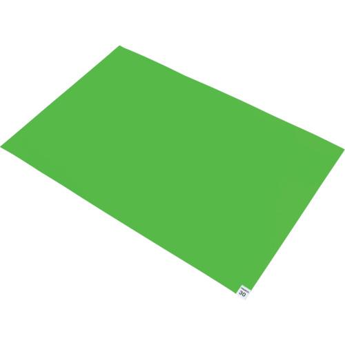 ■TRUSCO 粘着クリーンマット 600X450MM グリーン (20枚入) CM6045-20GN トラスコ中山(株)[TR-7679378] [個人宅配送不可]